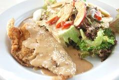Condimento giapponese dell'insalata del pesce Immagine Stock