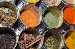 Condimentos de la comida imágenes de archivo libres de regalías