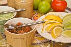 Condimentos mexicanos del alimento foto de archivo