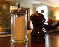 Condimentos - sal y azúcar Imágenes de archivo libres de regalías