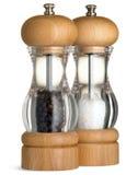 condiments aptekarki pieprzu sól elegancka Zdjęcia Royalty Free