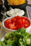 Condiments de Taco Images libres de droits