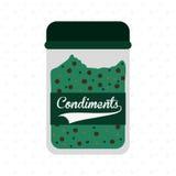 Condiments icon design Stock Image