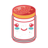 Condiments ingredients kawaii style cooking icon Stock Photo