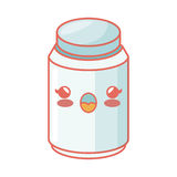 Condiments ingredients kawaii style cooking icon Stock Image