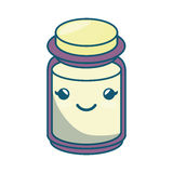 Condiments ingredients kawaii style cooking icon Royalty Free Stock Photography