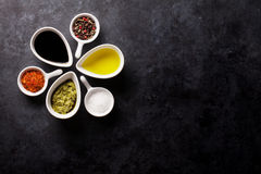 Condiments and spices Stock Images