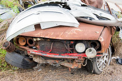 The condition of the car was demolished Stock Photos