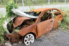 The condition of the car was demolished Stock Photography