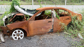 The condition of the car was demolished Stock Image