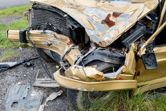 The condition of the car was demolished Royalty Free Stock Photo