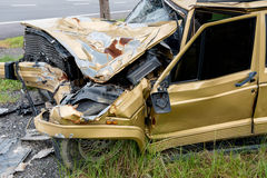 The condition of the car was demolished Royalty Free Stock Images