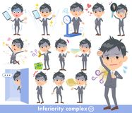 Condition_complex de Gray Suit Businessman Bad Illustration Libre de Droits