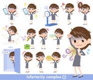 Condition_complex gris del malo de las mujeres de negocios del traje libre illustration