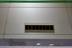 Condition d'air de débouché avec l'espace de copie sur le terminal d'aéroport international photos stock