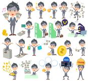 Condition_money de Gray Suit Businessman Bad Illustration Stock
