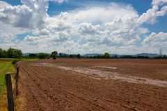 Condition the Plowed field, ready for sowing, After rain. The condition the Plowed field, ready for sowing, After rain Royalty Free Stock Image