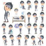 Condition_sickness de Gray Suit Businessman Bad Illustration Stock