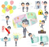 Condition_success et positif de Gray Suit Businessman Bad Illustration Stock