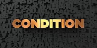 Condition - texte d'or sur le fond noir - photo courante gratuite de redevance rendue par 3D Photos libres de droits