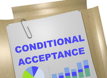 Conditional Acceptance concept stock illustration