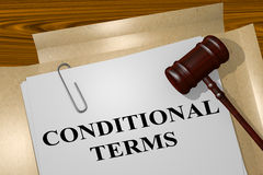 Conditional Terms concept Stock Photography