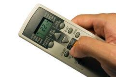 Conditioner remote control. In the hand Stock Image