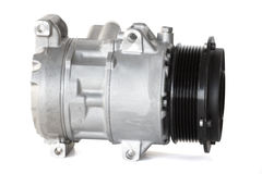 Conditioning compressor. Air conditioning compressor for different car engines Stock Photos