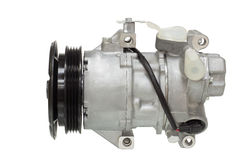 Conditioning compressor. Air conditioning compressor for different car engines Stock Photo