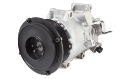 Conditioning compressor. Different air conditioning compressor for different car engines Stock Images