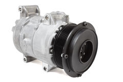 Conditioning compressor. Different air conditioning compressor for different car engines Stock Photos