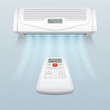Conditionneur avec des courants d'air frais Le contrôle de climat dans la maison et le bureau dirigent l'illustration illustration stock