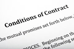 Conditions of Contract Letter Royalty Free Stock Photography