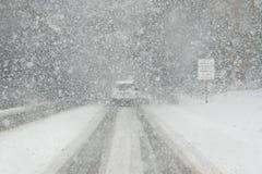 Conditions de conduite de blanc dehors Photographie stock