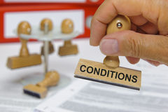 Conditions Royalty Free Stock Photo