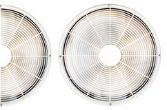 Condizionamento d'aria del condensatore Immagini Stock