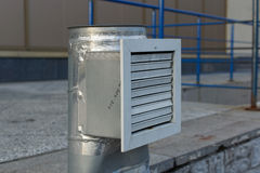 Condizionamento d'aria e sistemi di ventilazione d'acciaio industriali Immagini Stock