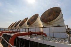Condizionatore d'aria industriale sul tetto Fotografia Stock Libera da Diritti