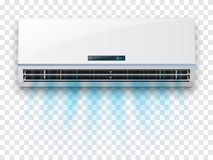 Condizionatore d'aria isolato su fondo trasparente Illustrazione di vettore Fotografie Stock Libere da Diritti