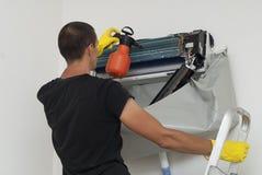 Condizionatore d'aria matrice di servizio Fotografie Stock