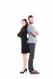 Condizione amorosa offensiva giovani delle coppie isolata Fotografia Stock Libera da Diritti