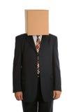 Condizione anonima dell'uomo della casella Fotografie Stock