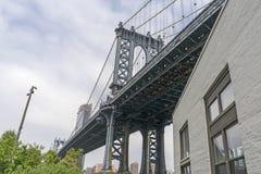 Condizione blu del ponte di Manhattan fotografie stock