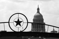Condizione Campidoglio che costruisce a Austin del centro, il Texas Immagine Stock
