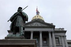 Condizione Campidoglio del Colorado a Denver Fotografia Stock Libera da Diritti