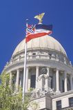Condizione Campidoglio del Mississippi immagine stock libera da diritti