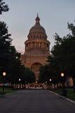 Condizione Campidoglio del Texas alla notte Fotografie Stock