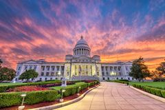 Condizione Campidoglio dell'Arkansas Fotografie Stock Libere da Diritti