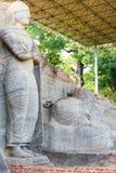 Condizione coperta Buddha adagiantesi Polonnaruwa Fotografie Stock Libere da Diritti