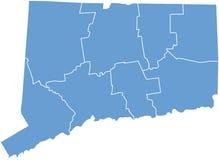 Condizione del Connecticut dalle contee Immagini Stock